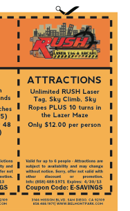 Lazer rush coupons