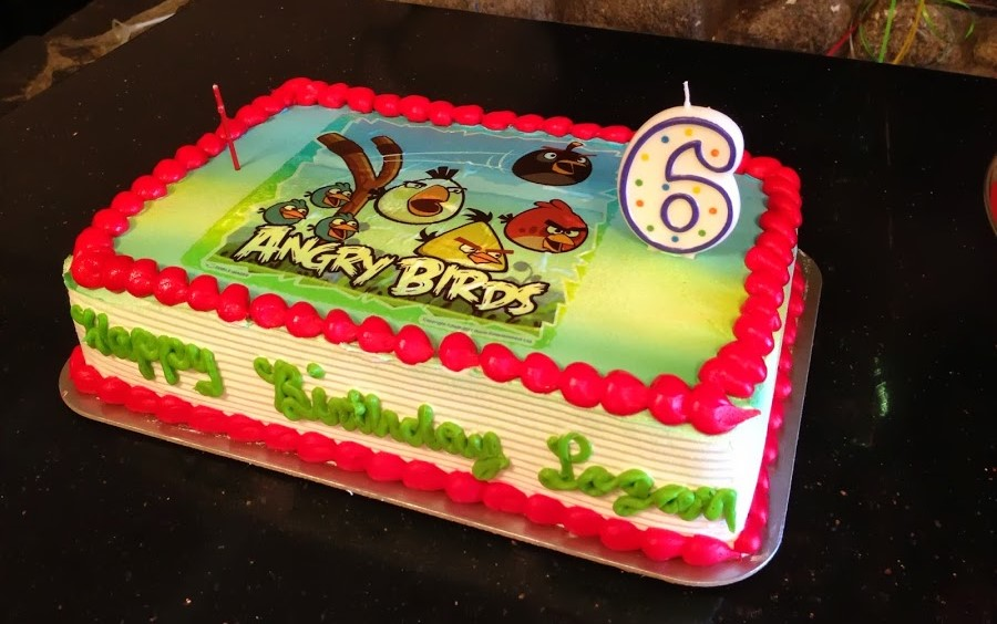 A Popeyes Chicken Birthday Cake Really This Could Have: My Son's EASY Angry Bird-day Birthday Party