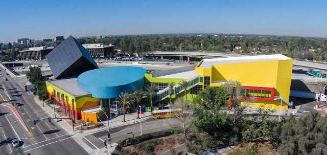 Discovery Cube Orange County Aerial View New Expansion 2015