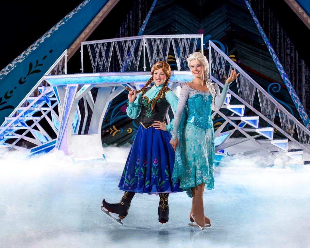 Anna and Elsa. Photo courtesy of Disney On Ice.