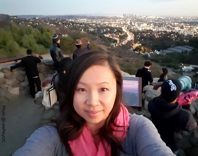 That's me overlooking Los Angeles from Mulholland Drive! You can also see the Hollywood Sign and Hollywood Bowl from here! ~Mary
