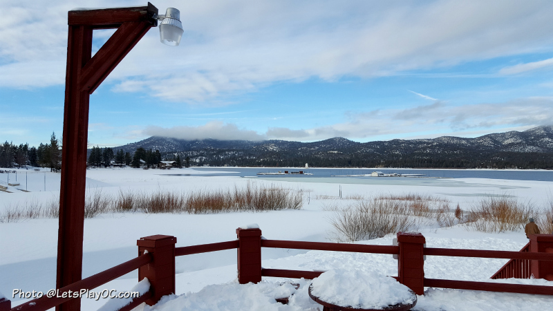 Big Bear Lake. Photo taken from Big Bear Frontier by Mary at LetsPlayOC.com
