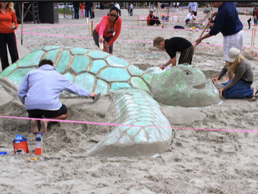 Sand Sculptures Competition at Dana Point Harbor Festival of Whales. Photo Courtesy of OC Parks.