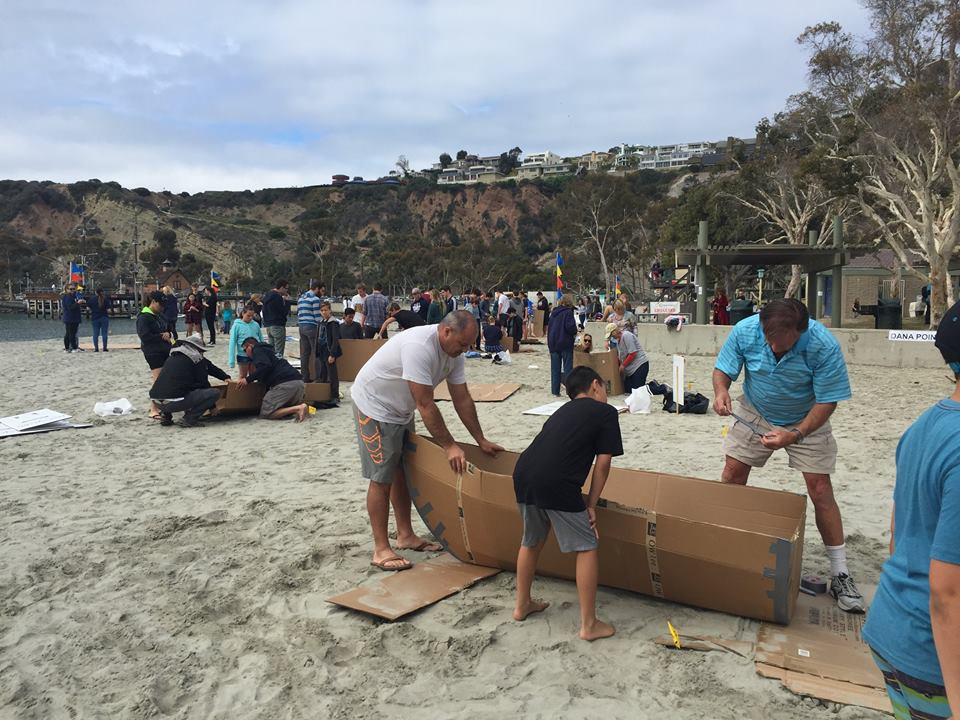 Dana Point Festival of Whales Cardboard Competition. Photo courtesy of OC Parks.