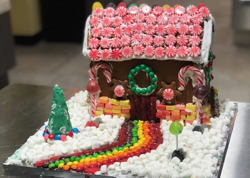 DiscoveryCubeOC Gingerbread Competition Candy House