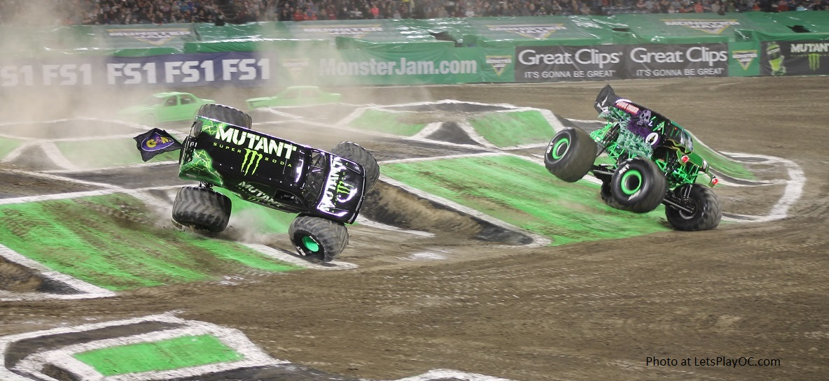 Monster Jam Trucks Anaheim Racing 2018