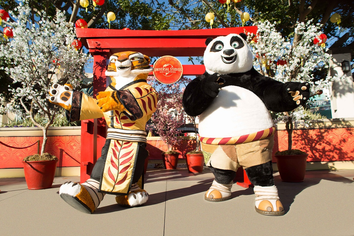 Universal Studios Hollywood Tigress and Po-Lunar New Year 2018