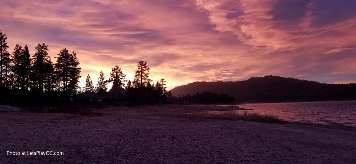 Big Bear Lake Sunset from Lagonita Lodg