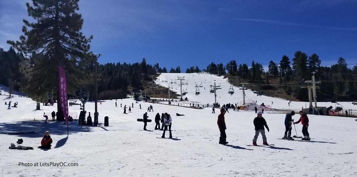 Big Bear Mountain Lake Snow Summit