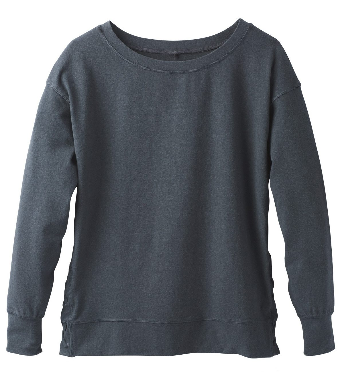 prana ostra top in charcoal gray