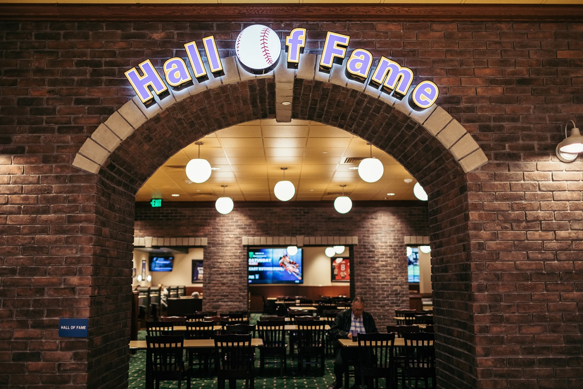 Hall of Fame Dining Room. Photo courtesy of John's Incredible Pizza Co.