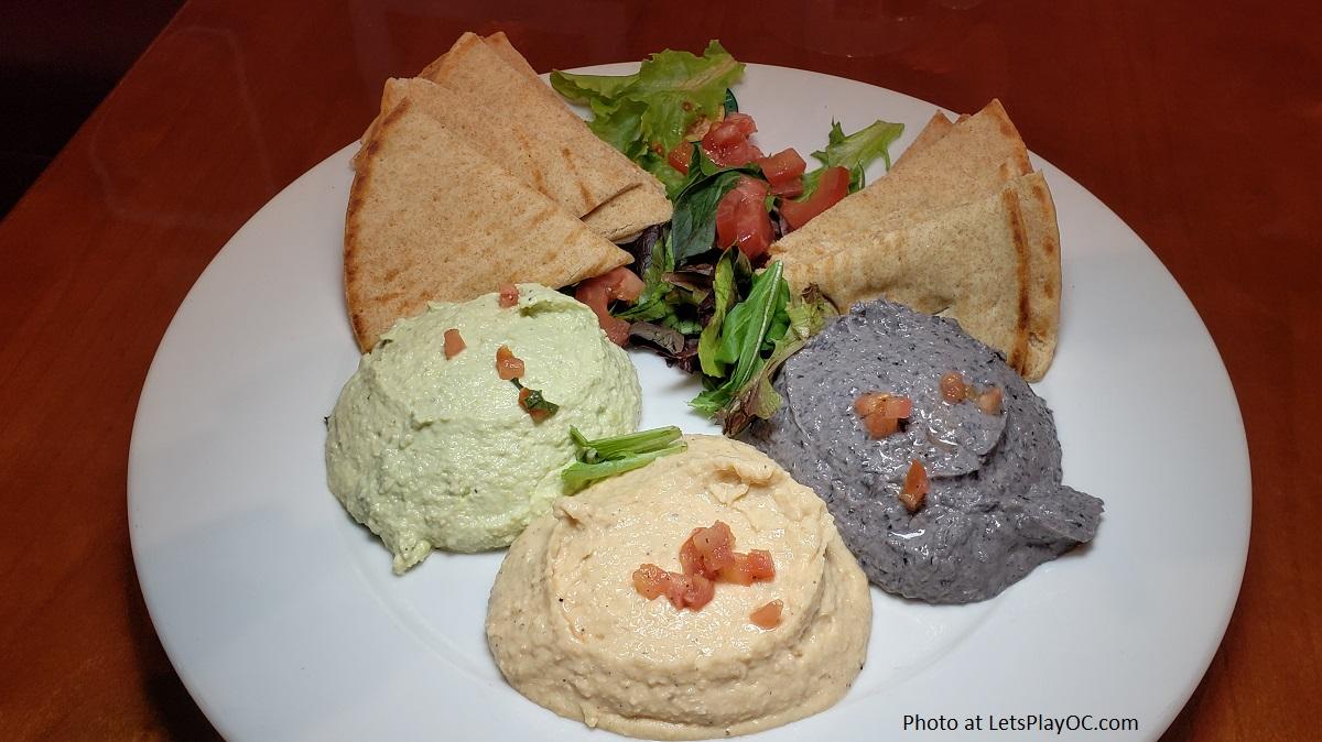 Hummus Trio at Panini Kabob Grill
