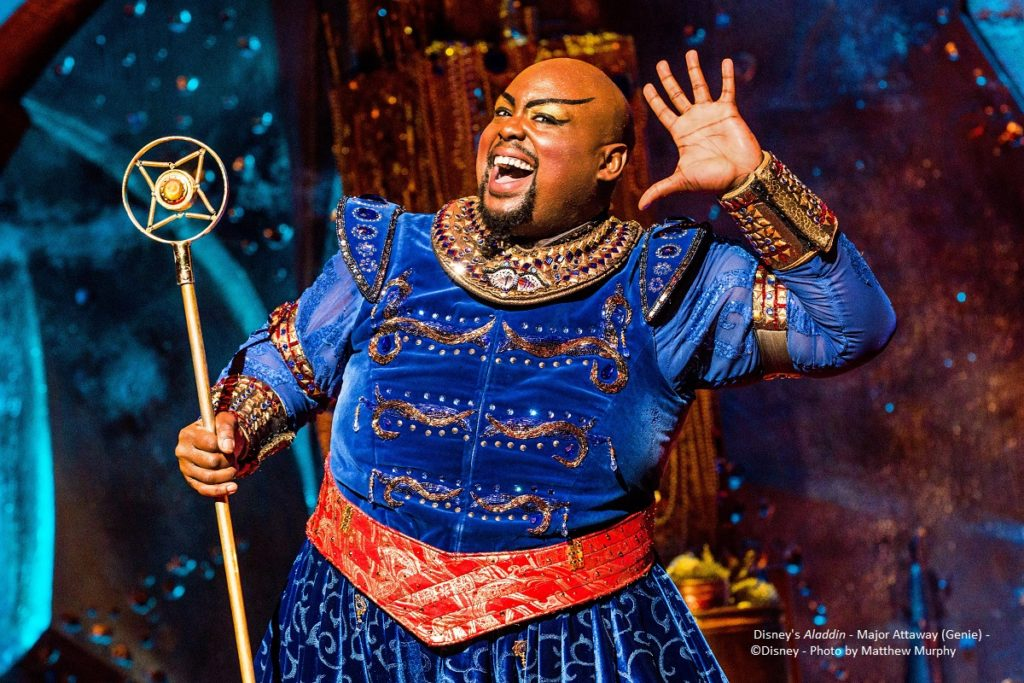 Disney's Aladdin - Major Attaway (Genie) - ©Disney - Photo by Matthew Murphy
